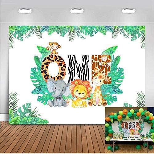 Mehofoto 1st Birthday Backdrop 7x5ft Vinyl Wild Forest Kamera