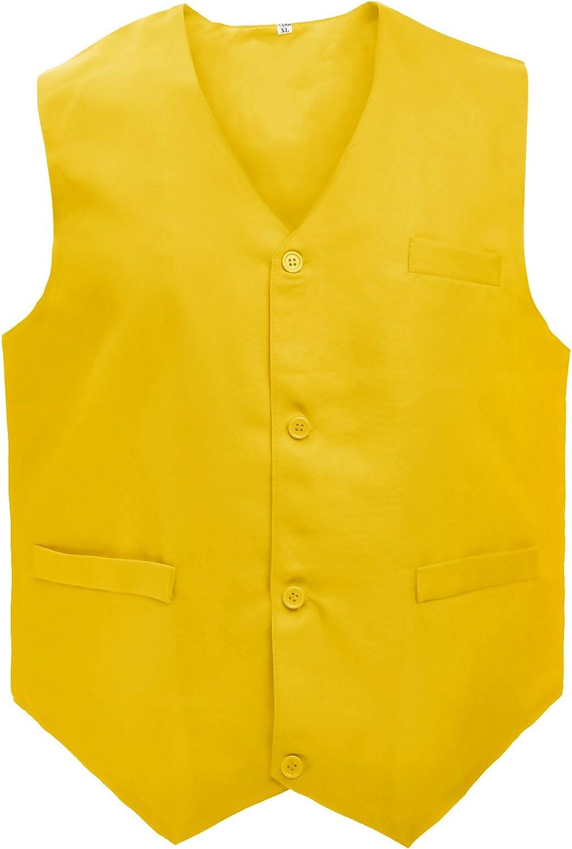 TOPTIE Waiter Uniform Unisex Button Vest for Supermarket Clerk & Volunteer