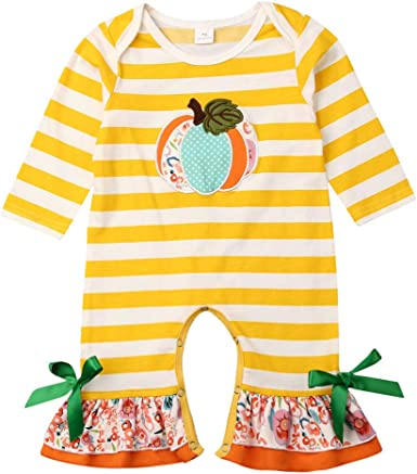 Baby Girl Striped Floral Romper Jumpsuit 6,12,/& 18 months