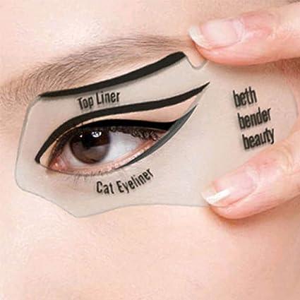 2 Plantillas Para Pintar Los Ojos Plantilla Para Delineador De Ojos