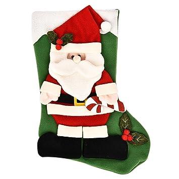 enerhu muñeco de nieve Papá Noel calcetines de calcetín de Navidad decoración colgante adornos decoración, #4, talla única: Amazon.es: Hogar