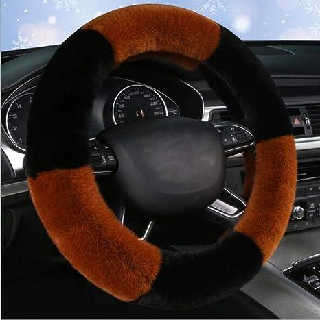 Microfiber Leather Durable Anti-Slip Wheel Cushion Protector Universal 15 Inch Carmen Hello Kitty Steering Wheel Cover Women Girls Best Gift