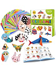 hapray Origami Kit for Kids, 152 Sheets Double-Sided Origami with 72 Patterns, 80 Pages Instructional Origami Book, Origami Paper for DIY Art and Craft Projects, Beginners, Children's Day Gifts