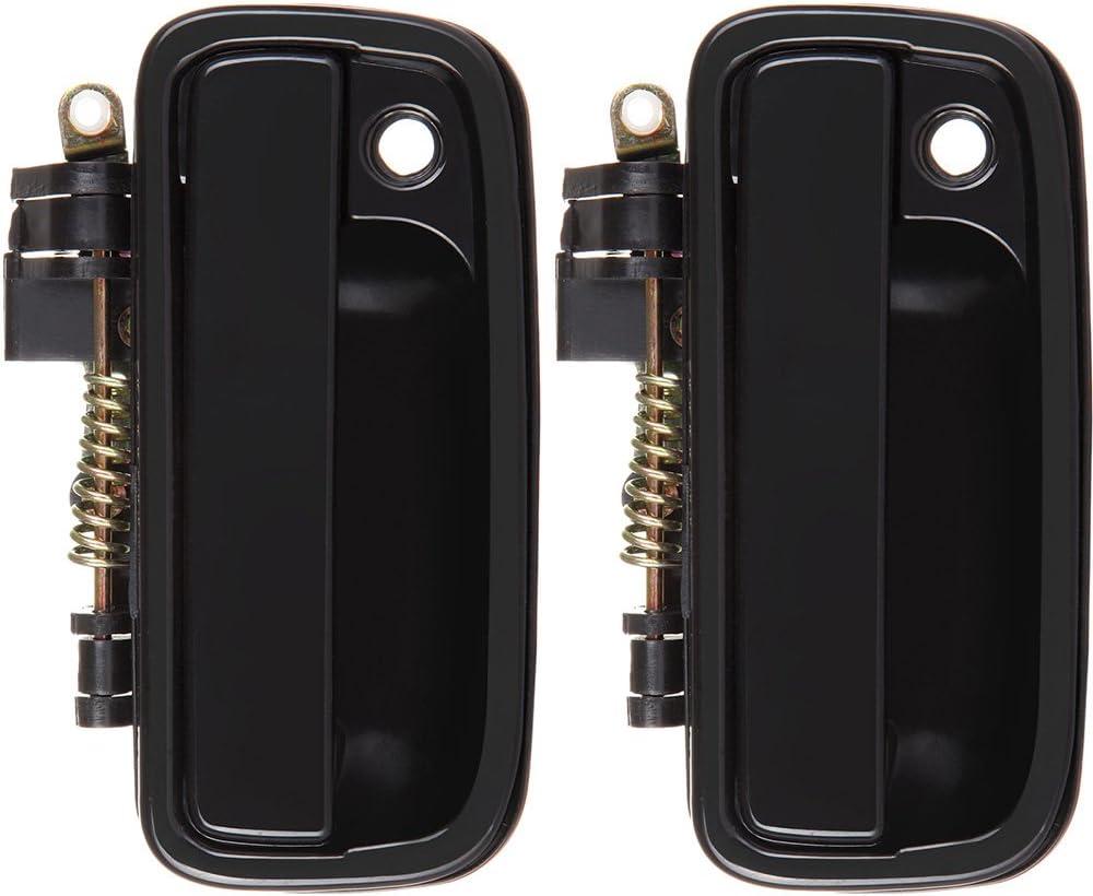 SCITOO Door Handles 2Pcs Black Exterior Front Left Side fit 95-04 Toyota Tacoma