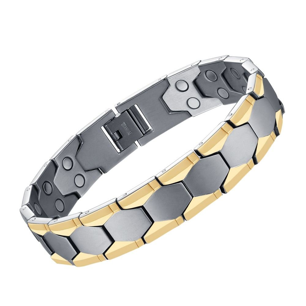MASALING Elegant Titanium Magnetic Therapy Bracelets Pain Relief for Arthritis and Carpal Tunnel