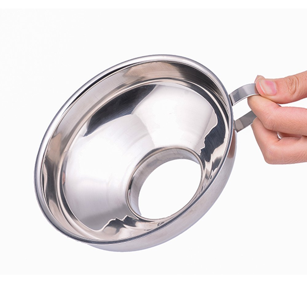 Stainless Steel Canning Funnel, Wide Mouth Jar Funnel With Handle for Wide and Regular Mouth Jars, Food Grade Metal Jam Funnel, 5.5-Inch Large Kitchen Funnels by HOXHA by HOXHA (Image #4)