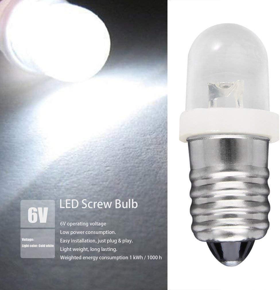 LED Glühlampe Glühbirne E10 6V weiß 2 Stück 8219