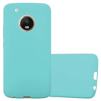 Cadorabo Motorola Moto G5 Plus Funda de Silicona TPU Candy en Candy Azul – Cubierta Protectora Super Delgada e Flexible con Antichoque – Gel Case ...