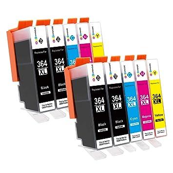 GPC Image 364XL (paquete de 10) cartuchos de tinta compatibles para HP 364 364-XL para HP Photosmart 5510 5520 5522 5520 6520 B8550 C5388 7510 7520 ...