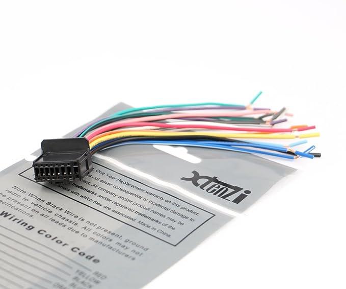 61OgLeq5c L._SX679_ amazon com pioneer radio cable wire harness plug 16 pin cde6468