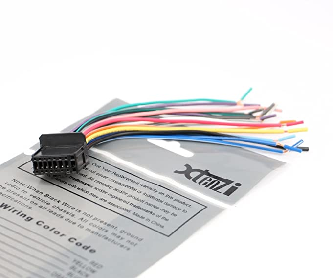 61OgLeq5c L._SX681_ amazon com pioneer radio cable wire harness plug 16 pin cde6468 pioneer deh p4000ub wiring diagram at fashall.co