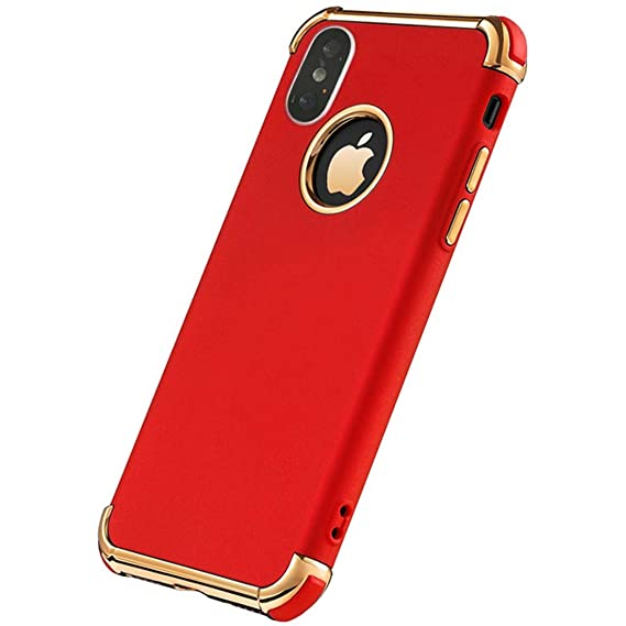 quality design 005d2 68e1e iPhone X Case, iPhone 10 Case, Ultra Slim Flexible Soft Matte Case Cover  Electroplated Shockproof Elegant Phone Case iPhone X/iPhone 10 (RED)
