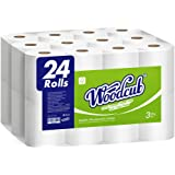 Woodcub Toilet Paper Strong and Durable,24 Mega Rolls = 84 Regular Rolls