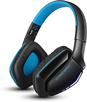 Amazon Com Bluetooth Gaming Headset Kotion Each B3506 V4 1 Wireless Foldable Gaming Headphones With Microphone For Pc Computer Ps4 Iphone Ipad Black Blue Computers Accessories
