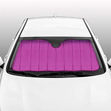 BDK Front Windshield Shade-Accordion Folding Auto Sunshade for Car Truck SUV-Blocks UV Rays Sun Visor Protector-Keeps Your Vehicle Cool-58 x 24 Inch