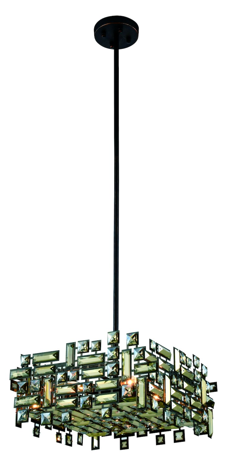 Picasso Collection Pendant Lamp L:18In. W:18In. H:9In. Lt:4 Dark Bronze Fi by Elegant Lighting (Image #1)