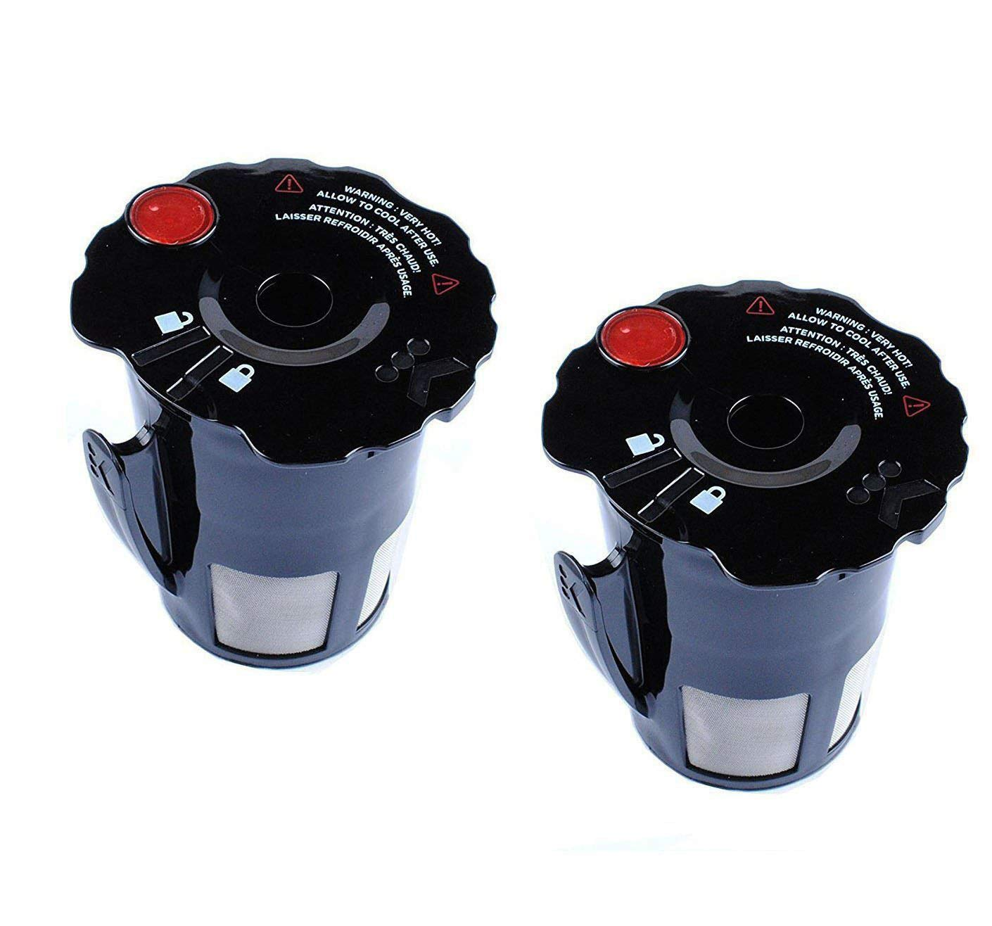 Podoy Reusable Coffee Filter for Keurig K-Cup My 119367 2.0 Updated Model Black Small Coffee Filter (Pack of 2)