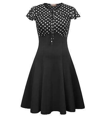 Black Red Retro Robe 50s 60s s Elegant Midi Club Dress Vestidos De Festa,1