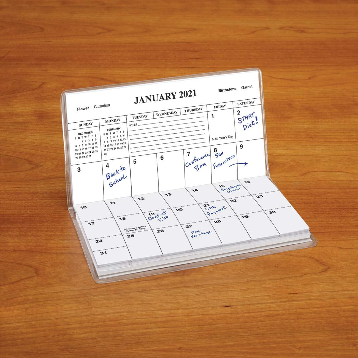 Pocket Sized Calendar Ideal for Purses 6 /¾ inches x 3 5//8 inches or Backpacks 2 Year Planner with God Briefcases