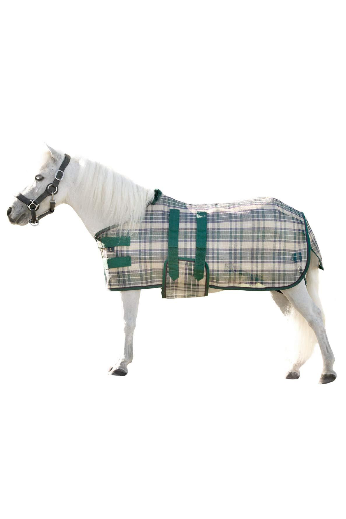 Kensington KPP Mini Horse Protective Fly Sheet, Deluxe Hunter Plaid (XX-Large)