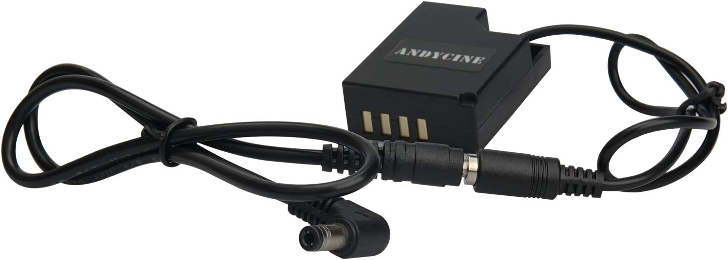 ANDYCINE CP-W126 DC Coupler NP-W126 Dummy Battery Power Adapter for Fujifilm X-T3 Work with ANDYCINE A6//A6Lite,Feelworld MA5//F5//F6 and DC 9V Aadapter