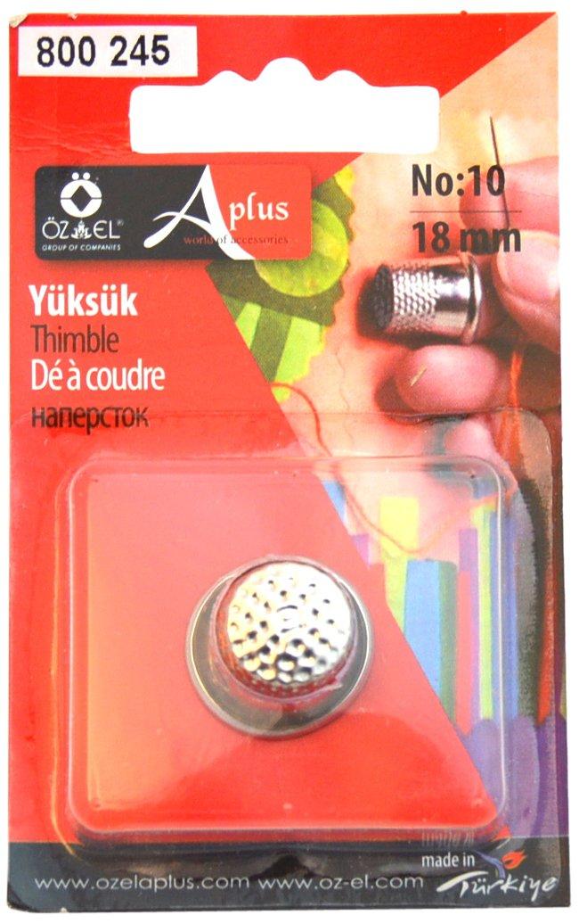 Ozelaplus - Ditale per cucito 18 mm, argento 802 245