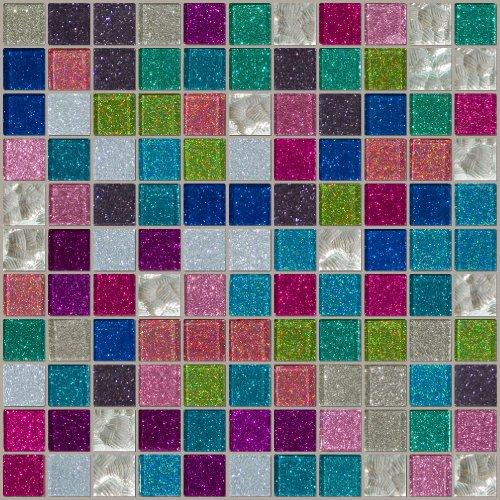 Silver Foil Cobalt (Susan Jablon Mosaics - Roy G Bling)
