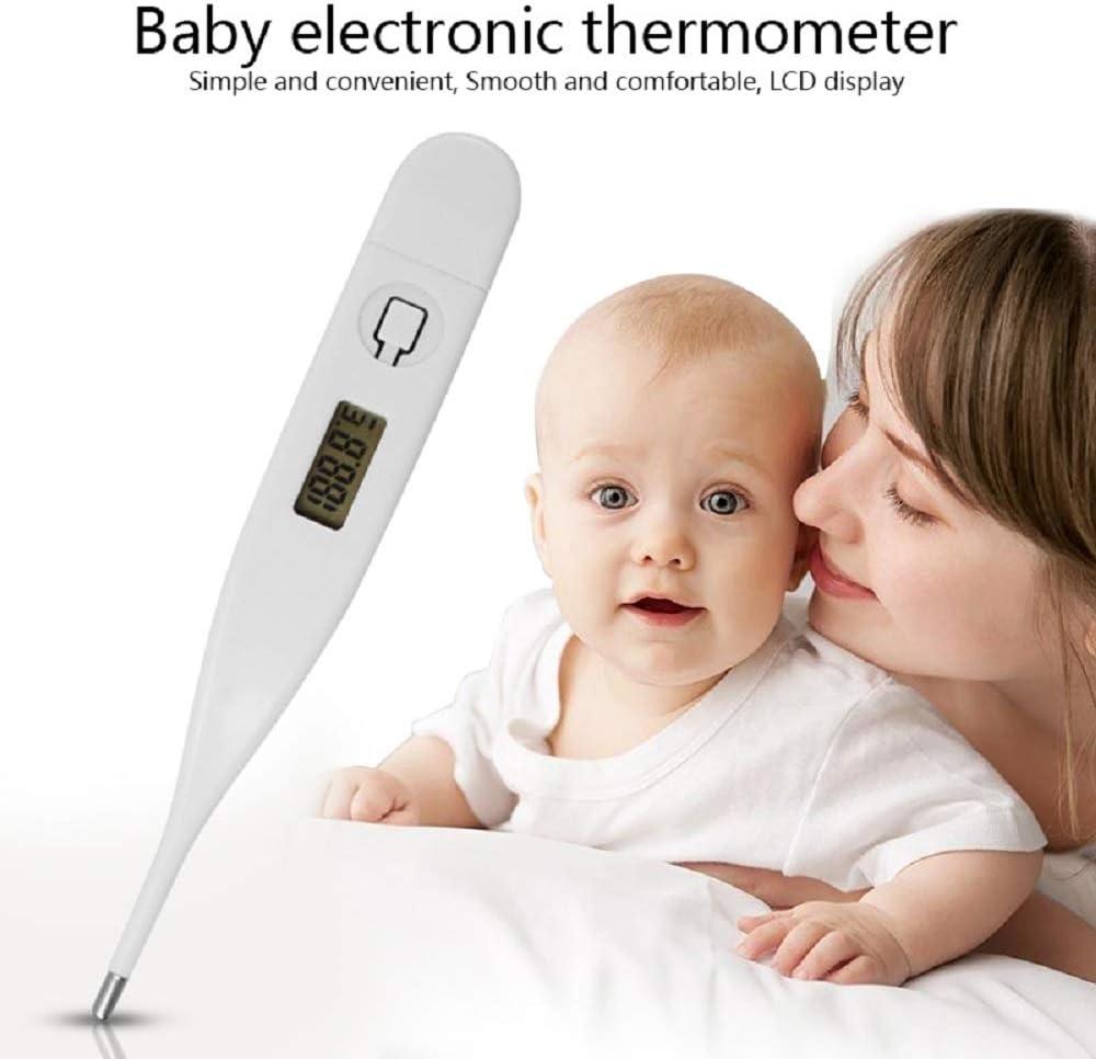 jianji Thermom/ètre /électronique num/érique /écran LCD Mesure de la temp/érature corporelle//orale pour la Maison et Le b/éb/é