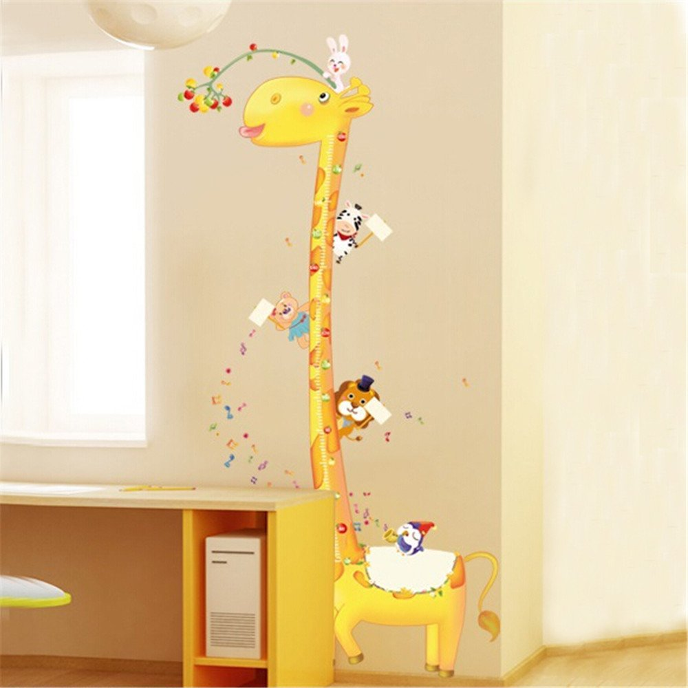 KiKa Monkey Animals Owl and Monkey Tree Removable Height Chart wall ...