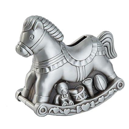 Cavallo A Dondolo Artigianale.Zhzx Salvadanaio Artigianale Metallo Cavallo A Dondolo