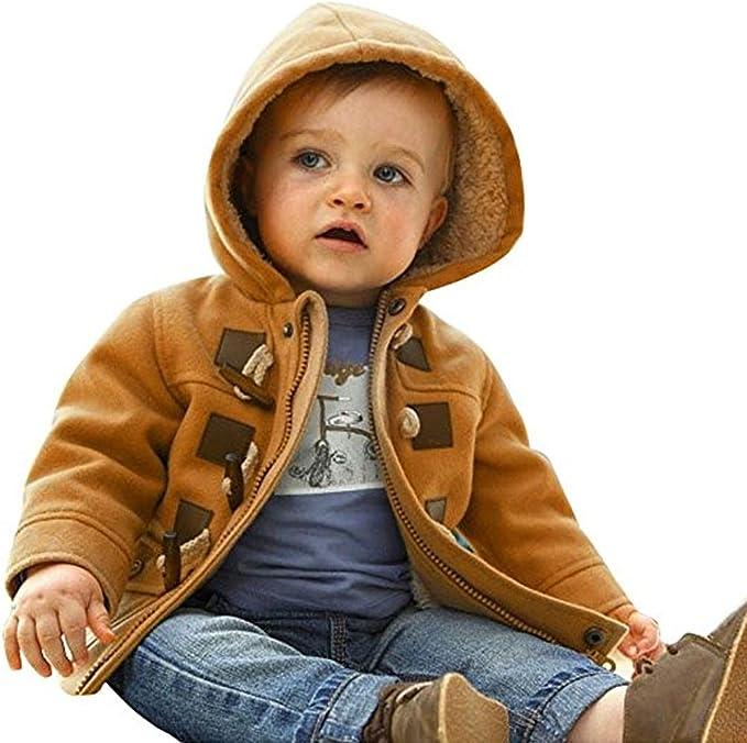 0-4 Anni Odziezet Cappotto con Cappuccio per Ragazze Bambini Giacca Manica Lunga Invernale Capispalla Imbottito Caldo