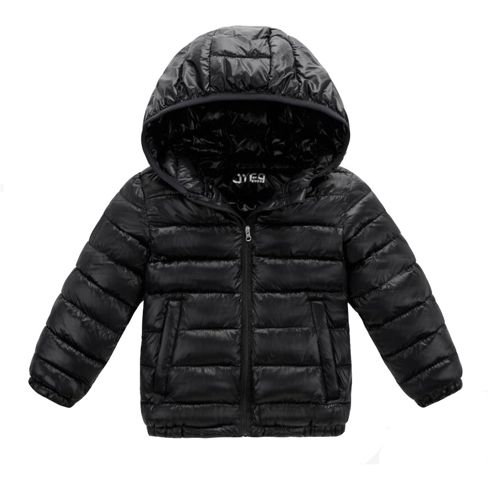 Baby Boy Girl Toddler Down Outerwear Coats Winter Puffer Cotton-padded Hooded Outwear