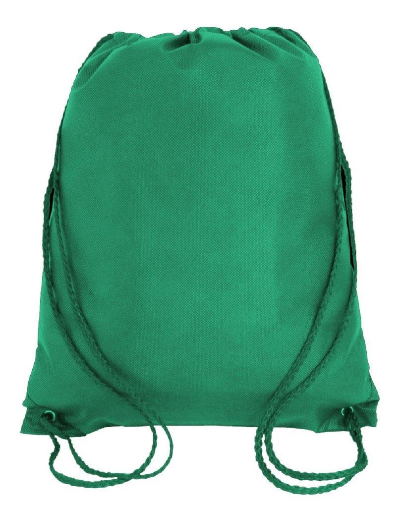 スーパー値pack- 50パック明るい色巾着バッグ、小さいサイズジュニアCinchパック、不織布バックパック B076WQSG29 ケリーグリーン