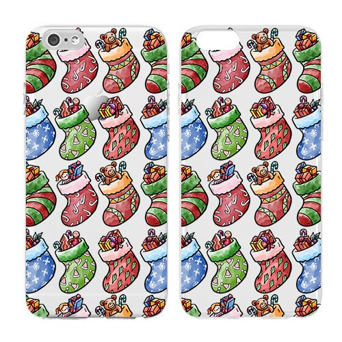 Christmas Iphone Case, Cool Christmas Gifts, Snowflakes , Cartoon Socks Soft Flexible Transparent Skin, Scratch Proof Protective Slim Case for iPhone 5C