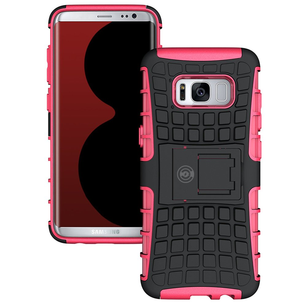Galaxy s8 Case, Tough by Cable and Case - Heavy Duty Eternity Series White for The Galaxy s8 Rubber Galaxy s8 Armor Cases- Rugged Shockproof Dual Layer Hybrid Hard//Soft Slim Protective Case