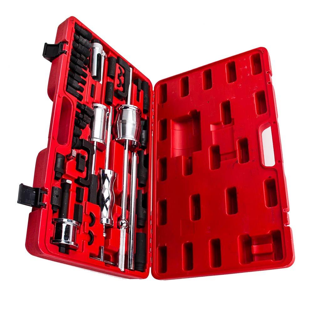maXpeedingrods 40 Pieces Truck Diesel Injector Extractor Slide Hammer Puller Extractor Complete Set,Universal MASTER Kit by maXpeedingrods (Image #5)