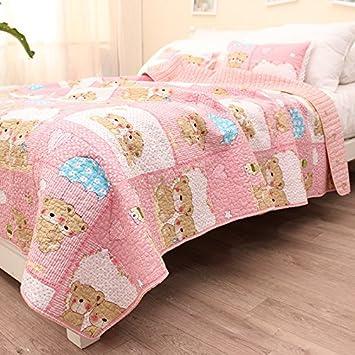 cute pink bear baby bedding coverlet quilt bedspread throw blanket for kidu0027s girl u0026 boys bed
