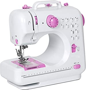 NEX Sewing Machine, Crafting Mending Machine, Children Present Portable with 12 Built-In Stitches
