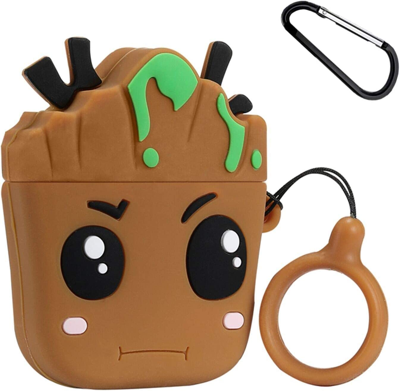 Mulafnxal Compatible with Airpods 1&2 Case,Silicone 3D Cute Fun Cartoon Character Airpod Cover,Kawaii Plant Animal Funny Fashion Design Skin,Shockproof Cases for Teens Girls Boys Air pods (Tree Baby)