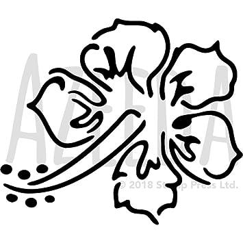 Azeeda A3 \'Hibiskus\' Wandschablone/Vorlage (WS00012726): Amazon.de ...