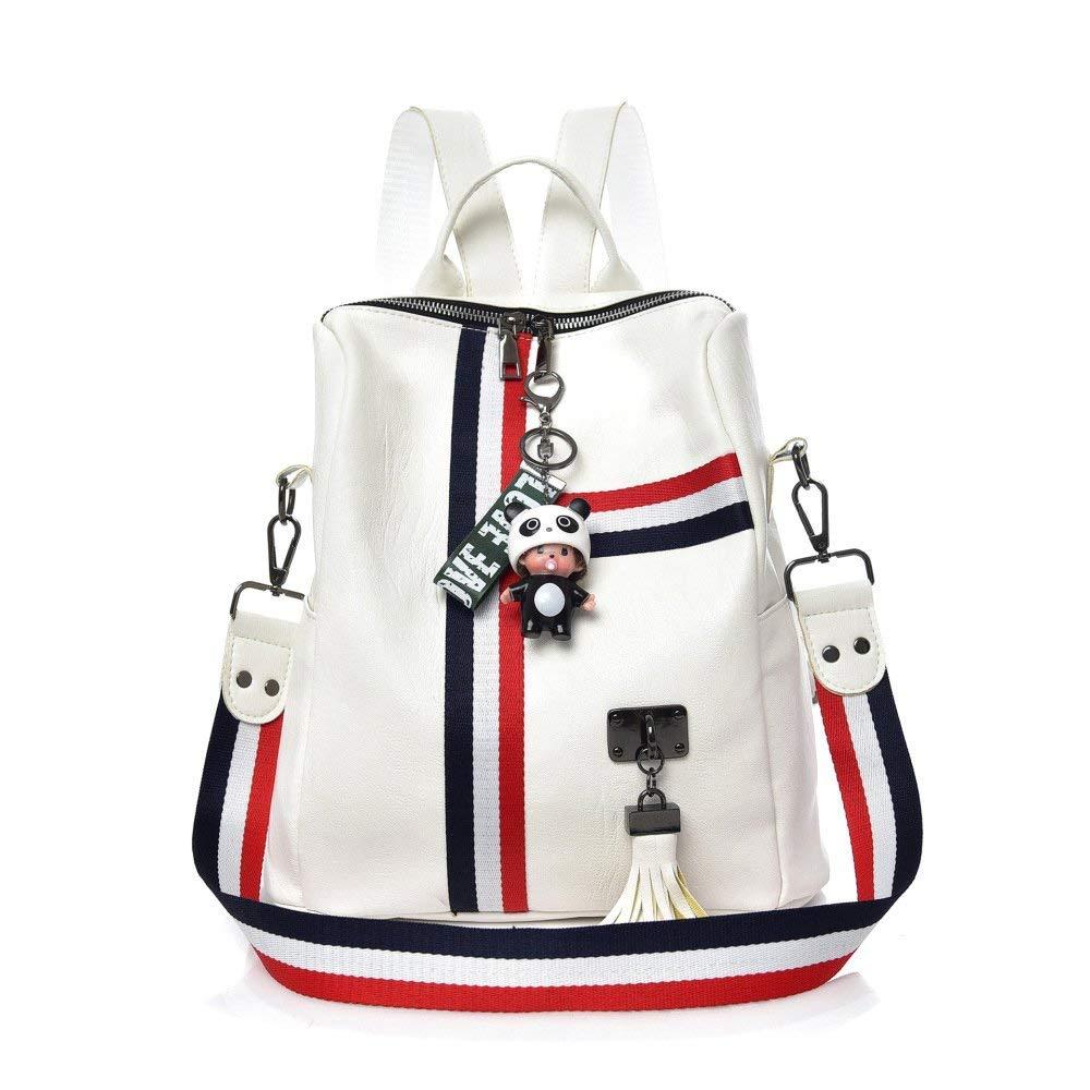 4 Medium Business Laptop Backpack Notebook Rucksack PU Leather Shoulder Bag Women 2018 New Casual Handbags Bag Ladies Backpack (color   2, Size   Medium)