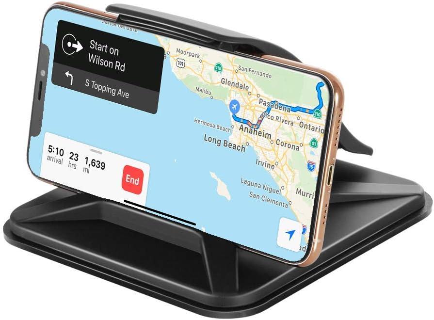 Modohe Soporte Móvil para Coche Soporte Universal Movil Coche Adecuado para el Tablero de Instrumentos, para GPS iPhone11 Pro/11/Xs Max/Xs/Xr/X/8/7/6s Plus, Galaxy S10 Note 10+ Huawei Mate 30 Pro etc