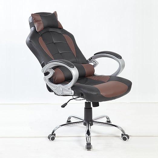 Bürosessel mit liegefunktion  BTM Luxus Racing Gaming Designer-Bürostuhl Schreibtischstuhl Plus ...