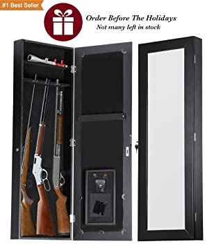 Amazon.com : Gun Cabinet Armoire Hidden In The Wall Mirror Rifle ...