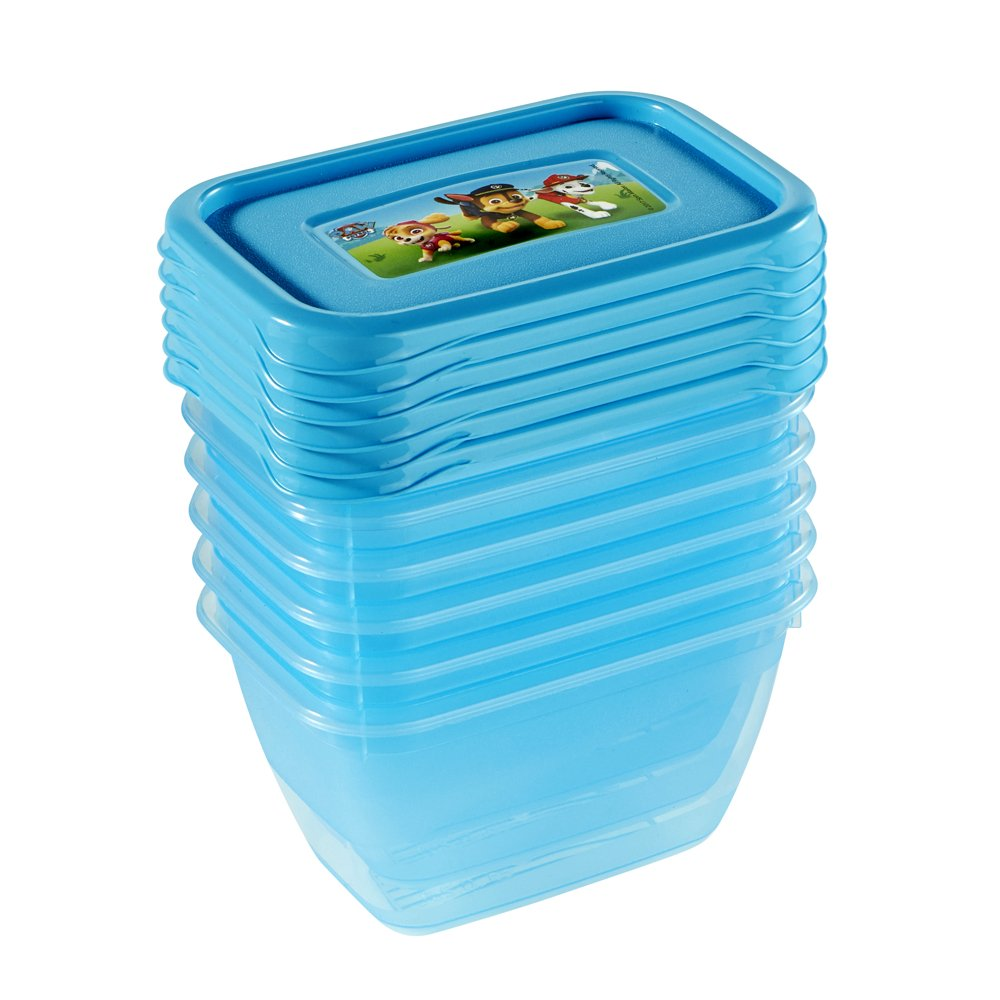 6,5 x 6,5 x 4 cm Iza keeeper Paw Patrol Frischhaltedosenset 6-teilig 6 x 90 ml Blau Transparent