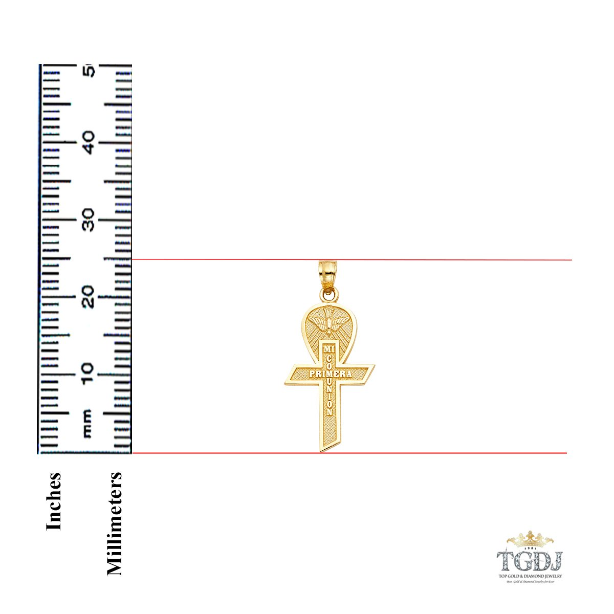 14k Yellow Gold Cross Religious Pendant More