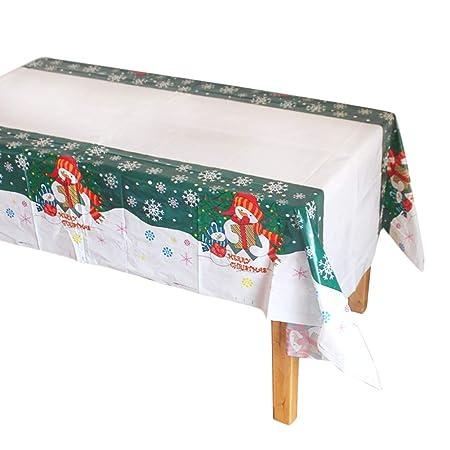 Westeng Mantel de Plastico Impermeable Fiesta de Navidad Mantel de ...