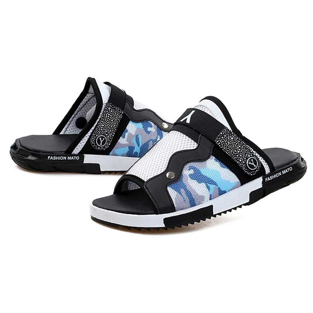 Oudan Unisex PU Rutschfest Wasserdichte Indoor Hausschuhe blau Haushalt Schuhe schwarz blau Hausschuhe (Farbe   Weiß Blau Größe   EU 40) 1c646c