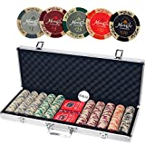 Monte Carlo Casino Poker Set with Aluminum Case Including 500pcs (Small Image)