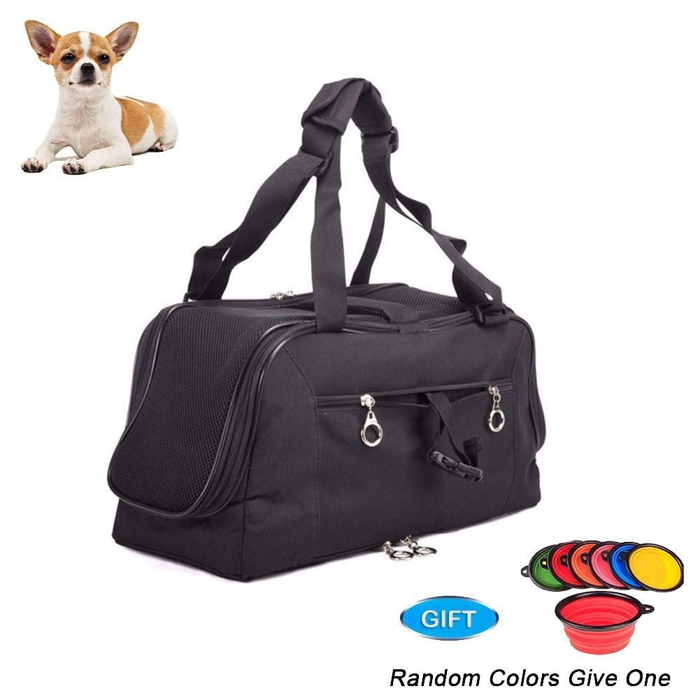 Black Pet Carrier,for Cats and Puppies, Pet Travel Carrier, 48  25.5  22cm,Black